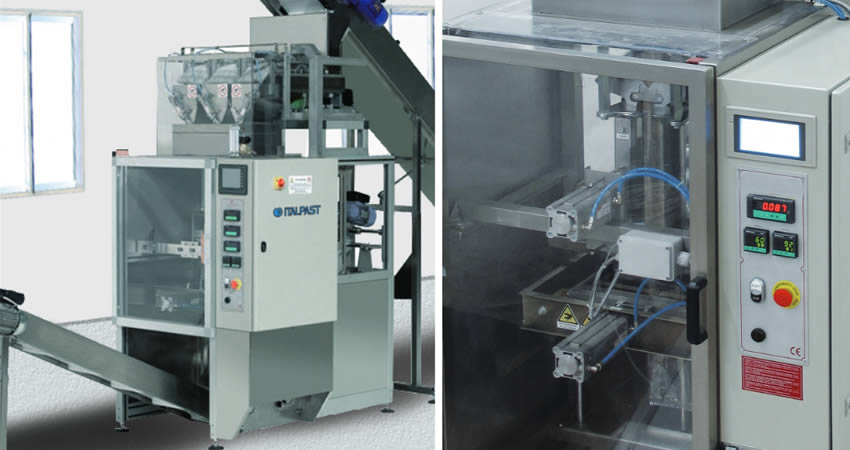 Packaging machine pasta