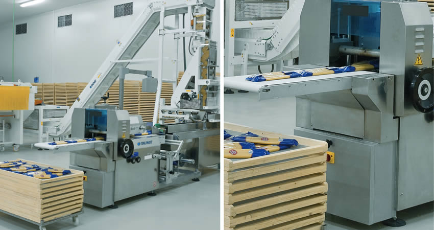 Packaging machine long cut pasta