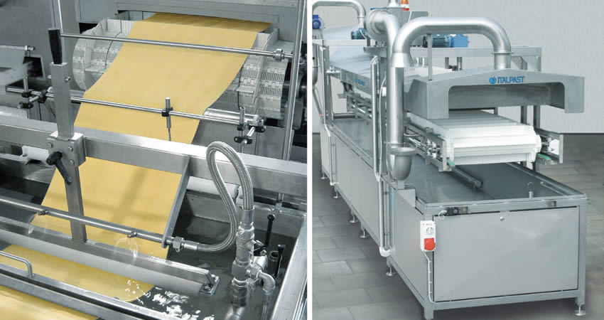 Continuous cookers pasta machinery