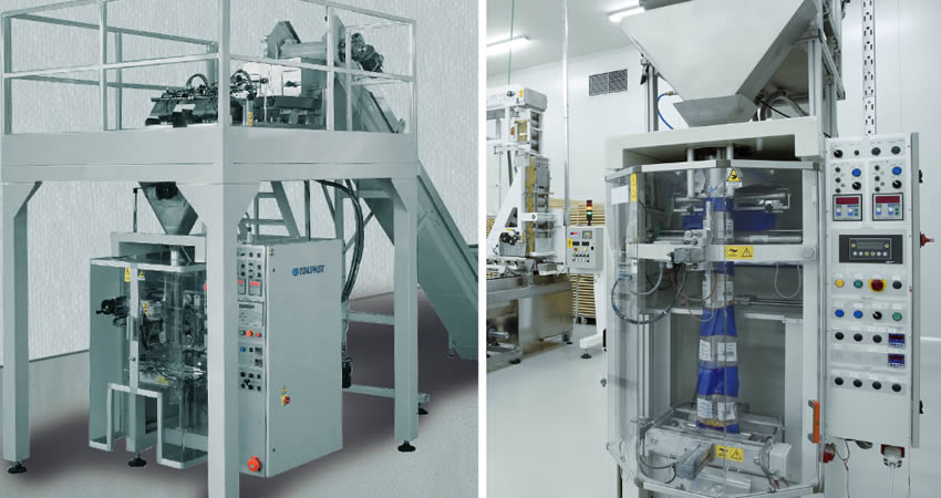 Pasta packaging machine